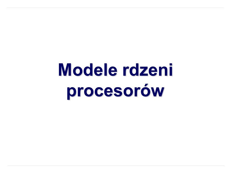 Modele rdzeni procesorów