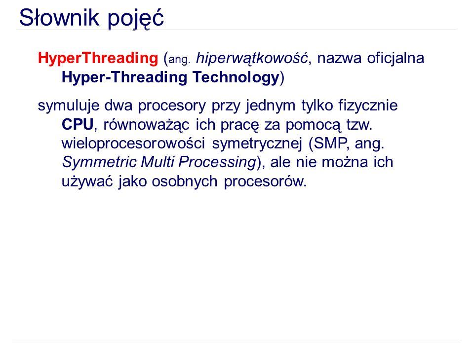 Słownik pojęć HyperThreading ( ang.