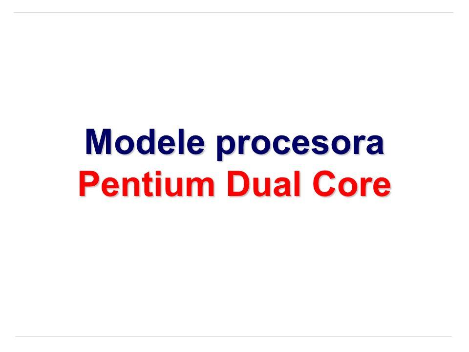 Modele procesora Pentium Dual Core
