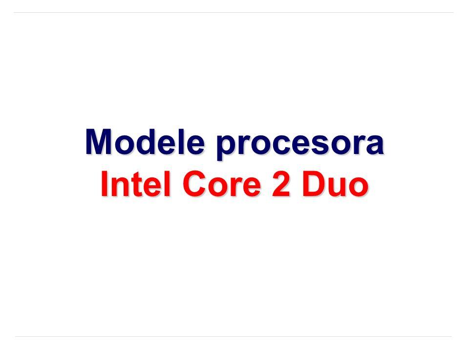 Modele procesora Intel Core 2 Duo