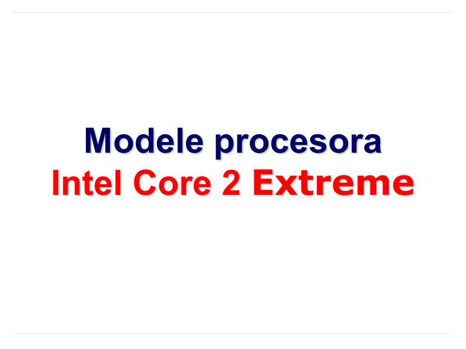 Modele procesora Intel Core 2 Extreme