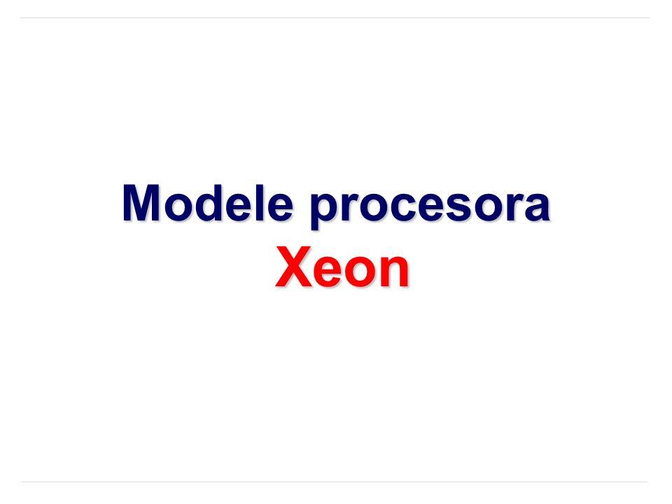 Modele procesora Xeon
