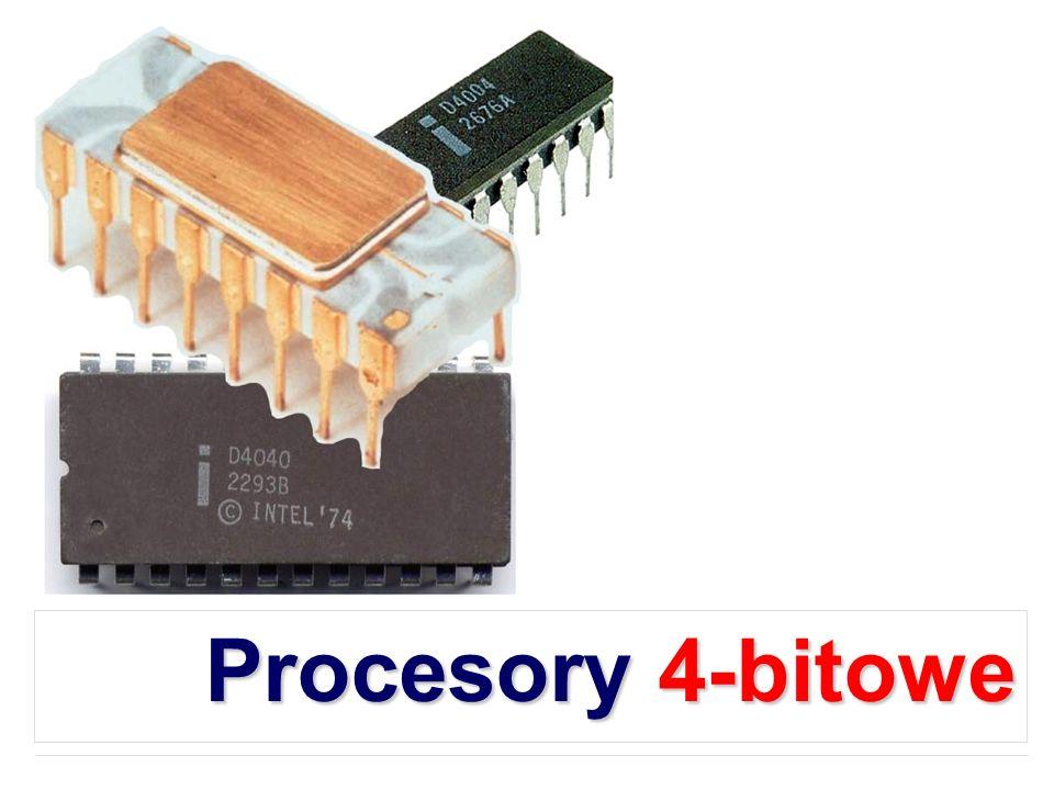 Intel 4040 Nowe procesory rozszerzające 4201 - Generator sygnału zegarowego, 500 do 740 kHz używający kryształów kwarcowych 4 do 5.185 MHz 4308 - 1KB ROM 4207 - Port wyjścia ogólnego zastosowania 4209 - Port wejścia ogólnego zastosowania 4211 - Port we/wy ogólnego zastosowania 4289 - Standardowy interfejs pamięci (zamiast 4008/4009) 4702 - 256B UVEPROM 4316 - 2KB ROM 4101 - RAM wielkości 256 4-bitowych słów
