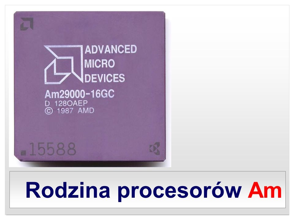 K5 AMD K5 był procesorem klasy Pentium, produkowanym przez firmę AMD od 1995 roku, następca Am5x86.