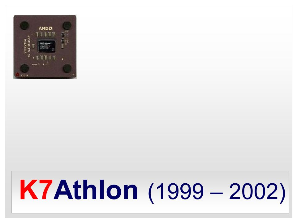 K7Athlon (1999 – 2002)