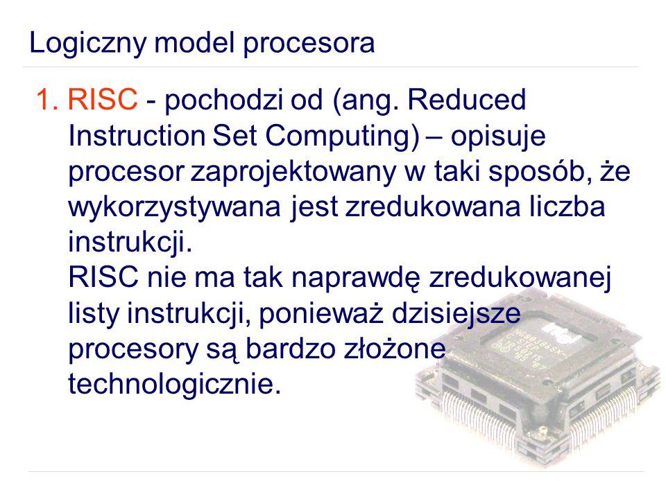 1.RISC - pochodzi od (ang.