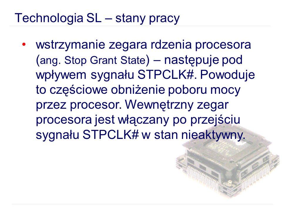 wstrzymanie zegara rdzenia procesora ( ang.