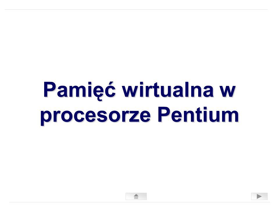 Pamięć wirtualna w procesorze Pentium