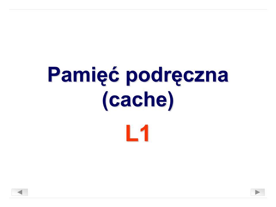 Pamięć podręczna (cache) L1