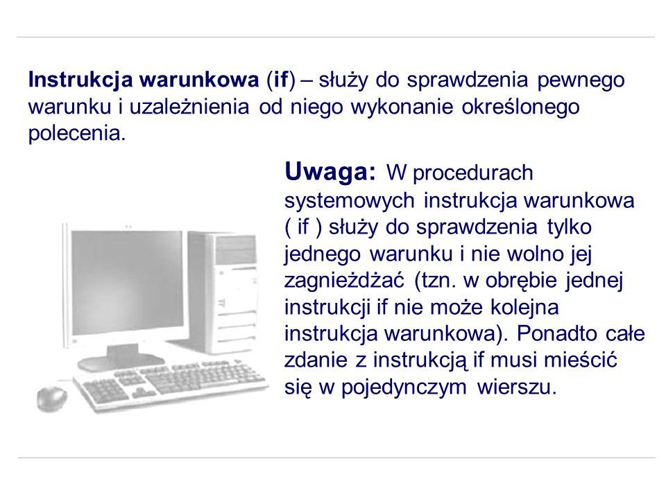 Zadanie 5 Napisz procedurę, która utworzy na dysku katalog roboczy, a w nim zapisze dane parametrami procedury.