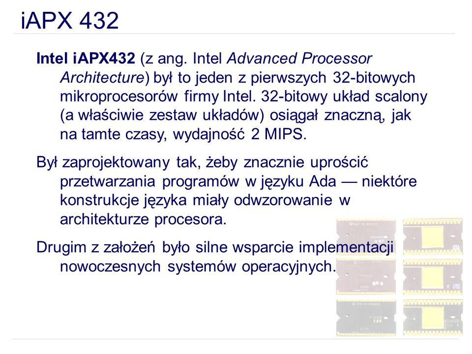 Intel iAPX432 (z ang. Intel Advanced Processor Architecture) był to jeden z pierwszych 32-bitowych mikroprocesorów firmy Intel. 32-bitowy układ scalon