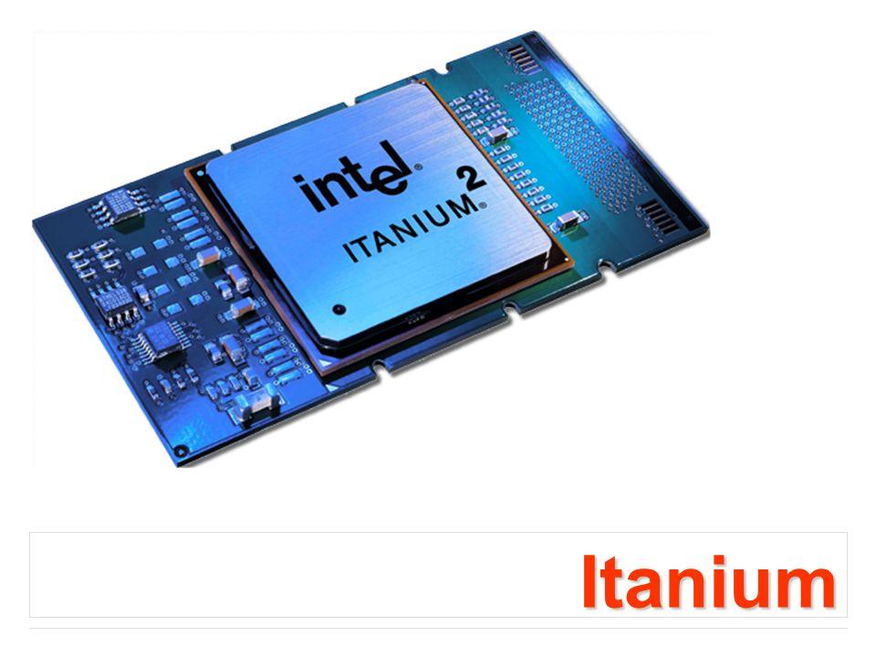 Itanium Jest pierwszym 64-bitowym procesorem rodziny 80x86.