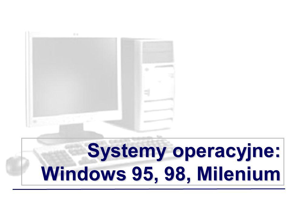 Systemy operacyjne: Windows 95, 98, Milenium