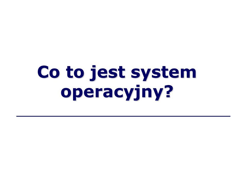System operacyjny to program kontrolujący pracę komputera.