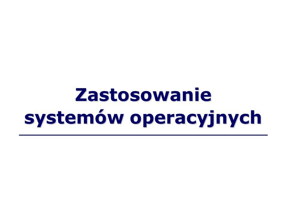Zastosowanie systemów operacyjnych