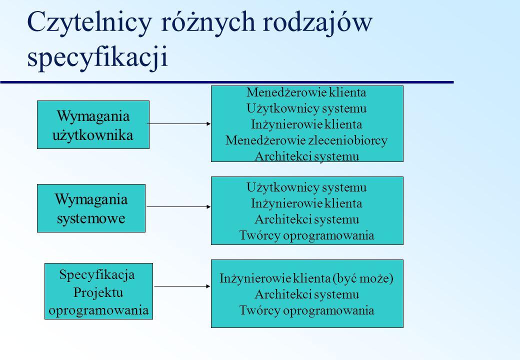 Wymagania funkcjonalne o Wymagania funkcjonalne stawiane systemowi opisują funkcjonalność lub usługi, które system powinien oferować.
