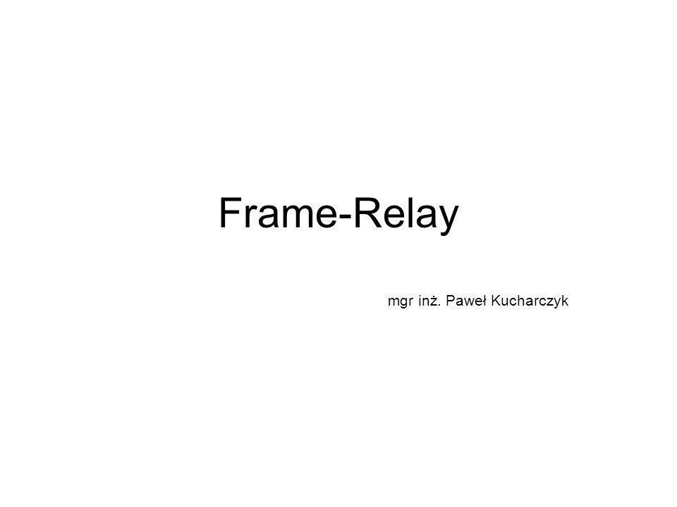 Wykrywanie błędów Sieć Frame Relay jest w stanie wykryć błędy na podstawie pola FCS (Frame-Check Sequence).