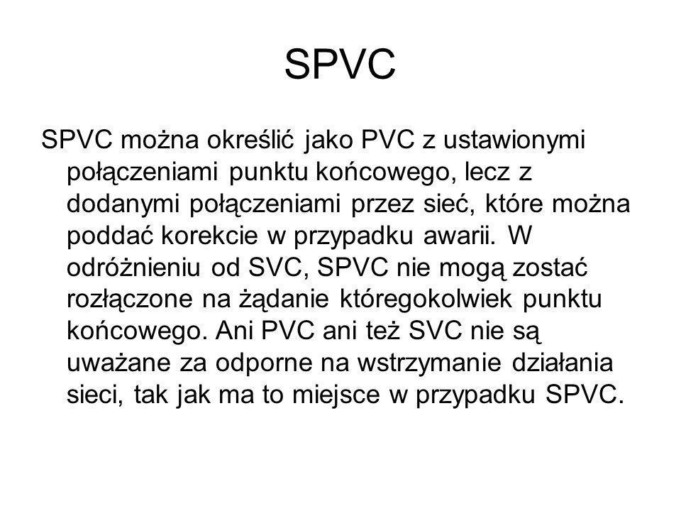 SPVC SPVC można określić jako PVC z ustawionymi połączeniami punktu końcowego, lecz z dodanymi połączeniami przez sieć, które można poddać korekcie w