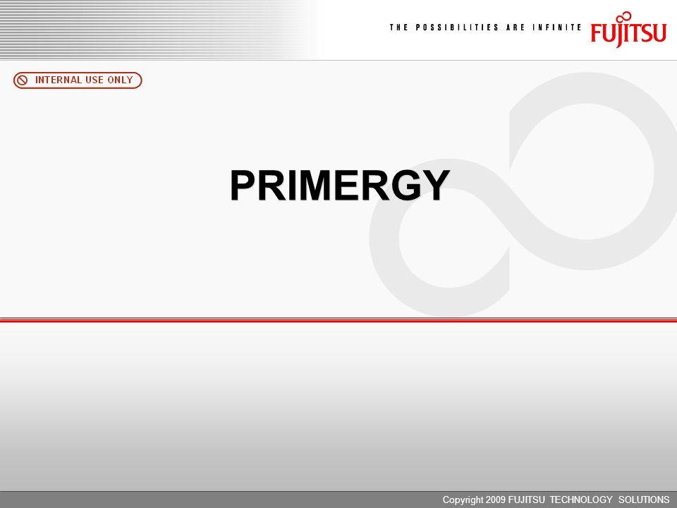 Copyright 2009 FUJITSU TECHNOLOGY SOLUTIONS PRIMERGY