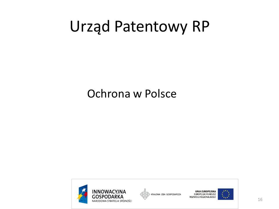 Urząd Patentowy RP Ochrona w Polsce 16