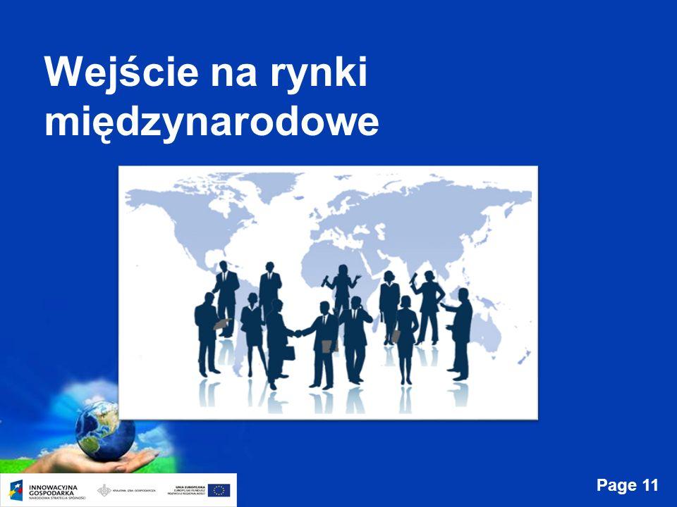 Page 11 Wejście na rynki międzynarodowe