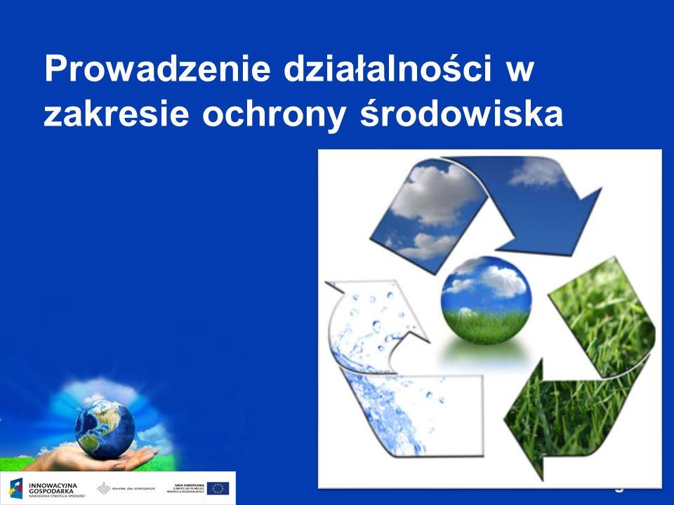 Page 8 Prowadzenie działalności w zakresie ochrony środowiska