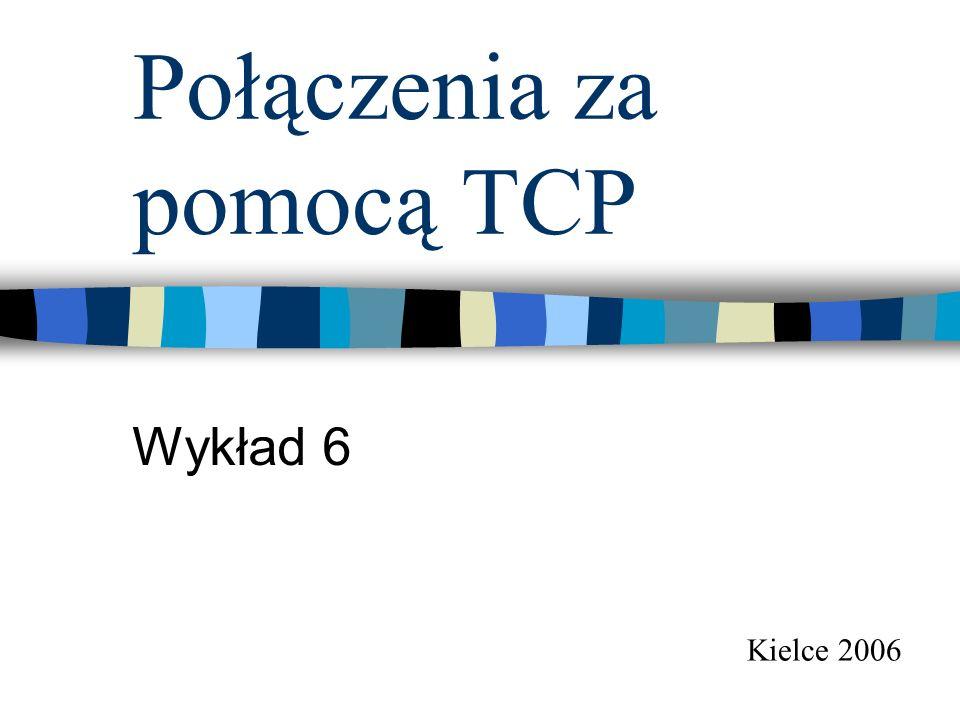 Połączenia za pomocą TCP Wykład 6 Kielce 2006