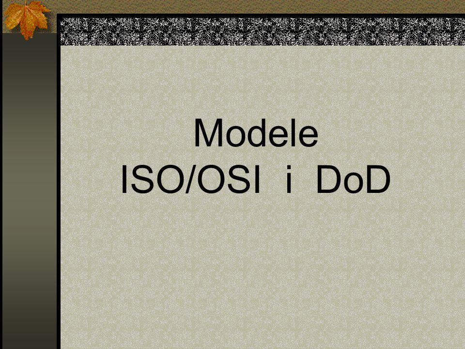 Modele ISO/OSI i DoD