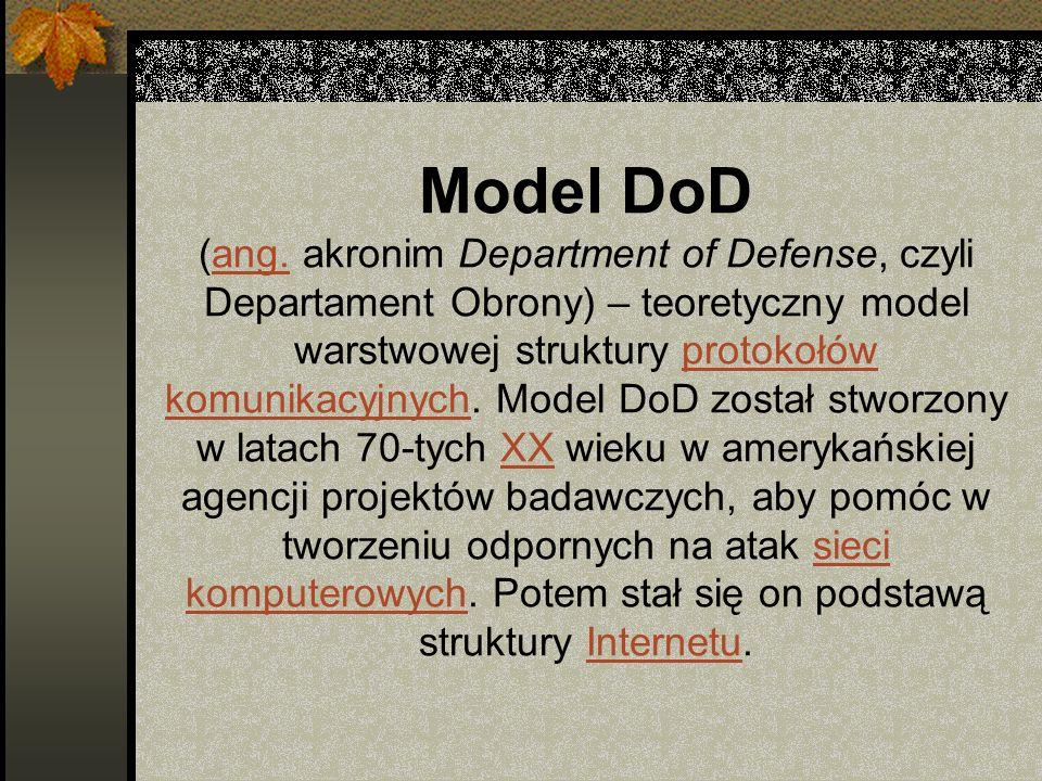Model DoD (ang. akronim Department of Defense, czyli Departament Obrony) – teoretyczny model warstwowej struktury protokołów komunikacyjnych. Model Do