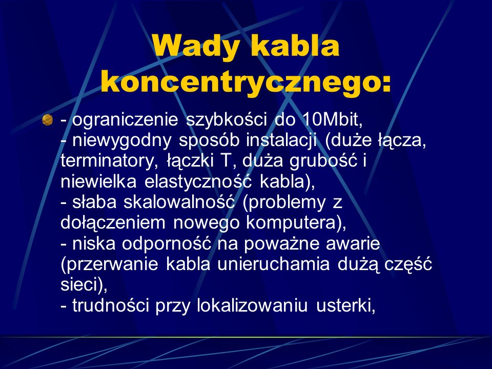 Skrętka Wyróżniamy dwa rodzaje skrętki: - skrętkę ekranowaną (STP, Shield Twisted Pair) - skrętkę nieekranowaną (UTP, Unshield Twisted Pair)
