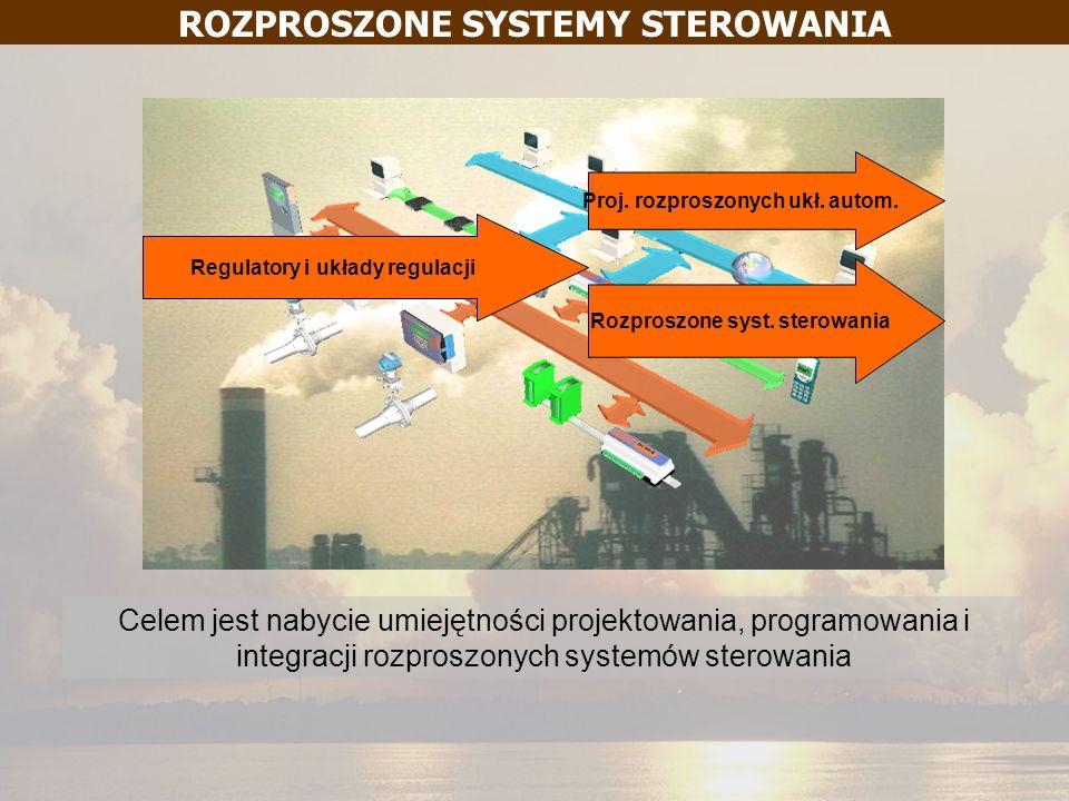 ROZPROSZONE SYSTEMY STEROWANIA Regulatory i układy regulacji Proj. rozproszonych ukł. autom. Rozproszone syst. sterowania Celem jest nabycie umiejętno
