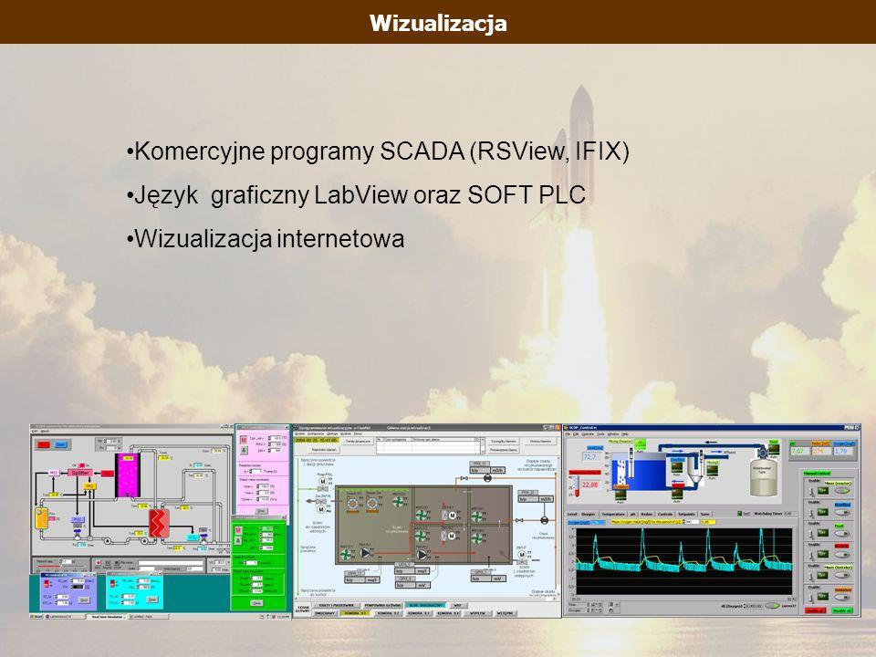 Wizualizacja Komercyjne programy SCADA (RSView, IFIX) Język graficzny LabView oraz SOFT PLC Wizualizacja internetowa