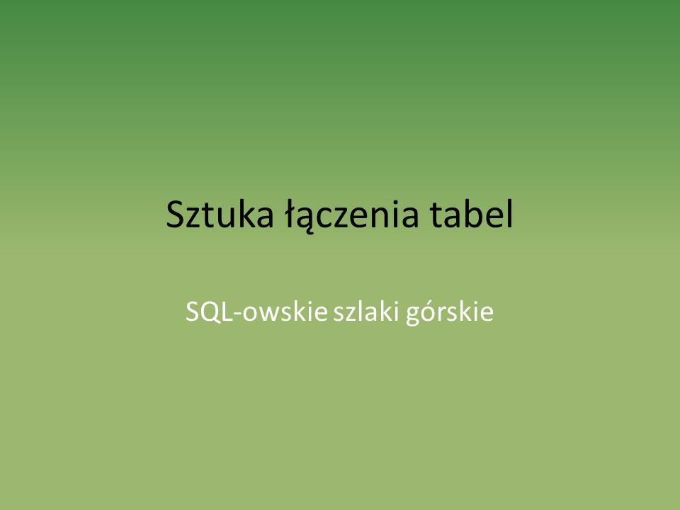 Sztuka łączenia tabel SQL-owskie szlaki górskie
