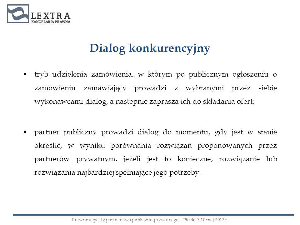 Dialog konkurencyjny tryb udzielenia zamówienia, w którym po publicznym ogłoszeniu o zamówieniu zamawiający prowadzi z wybranymi przez siebie wykonawc
