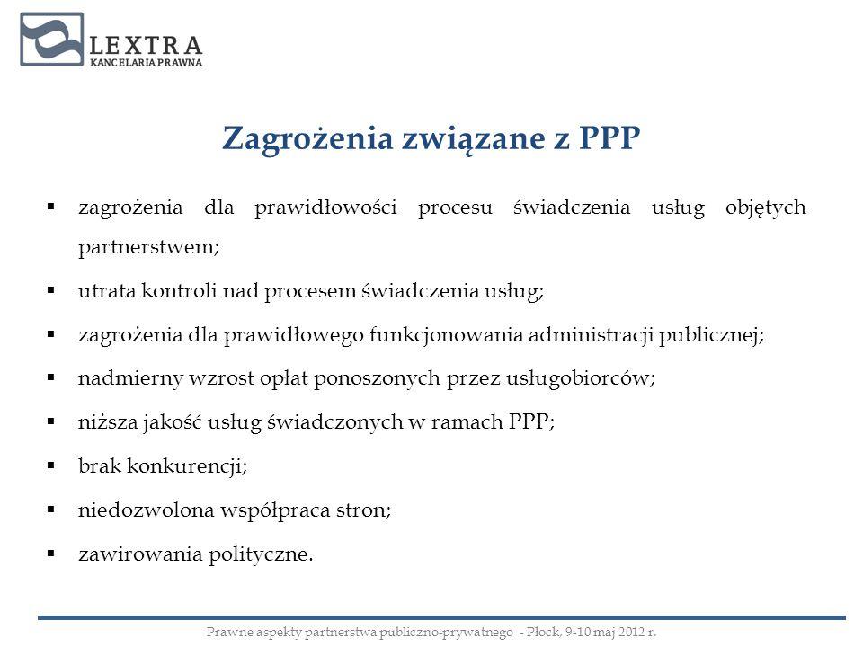 Umowa PPP w trybie koncesji - elementy opis przedmiotu przedsięwzięcia; czas realizacji przedmiotu przedsięwzięcia; czas trwania kontraktu; wysokość, formę i sposób wynagrodzenia partnera prywatnego; płatność na rzecz podmiotu publicznego; podział ryzyk i zadań w ramach PPP; normy jakościowe, wymagania i standardy stosowane przy wykonywaniu przedsięwzięcia; zasady i szczegółowy tryb przeprowadzania kontroli bieżącej realizacji przedsięwzięcia; warunki przedłużenia lub skrócenia okresu obowiązywania umowy.
