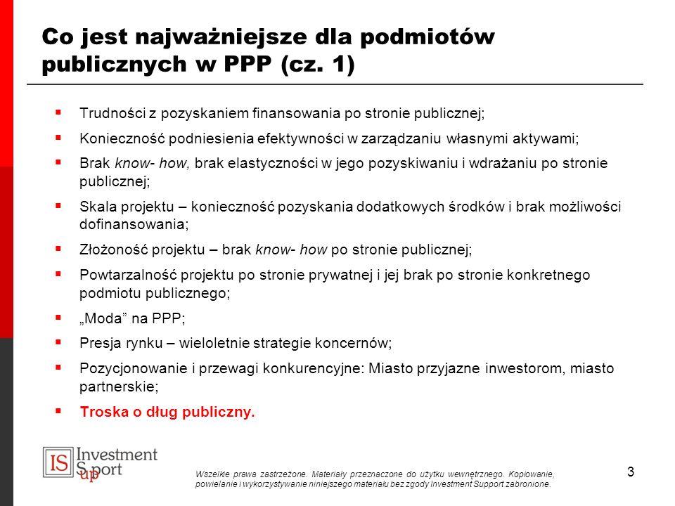 3 Co jest najważniejsze dla podmiotów publicznych w PPP (cz.