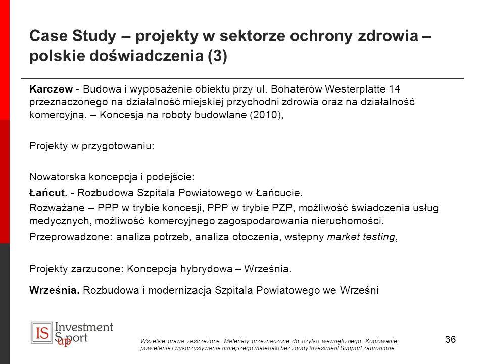 Case Study – projekty w sektorze ochrony zdrowia – polskie doświadczenia (3) Karczew - Budowa i wyposażenie obiektu przy ul.