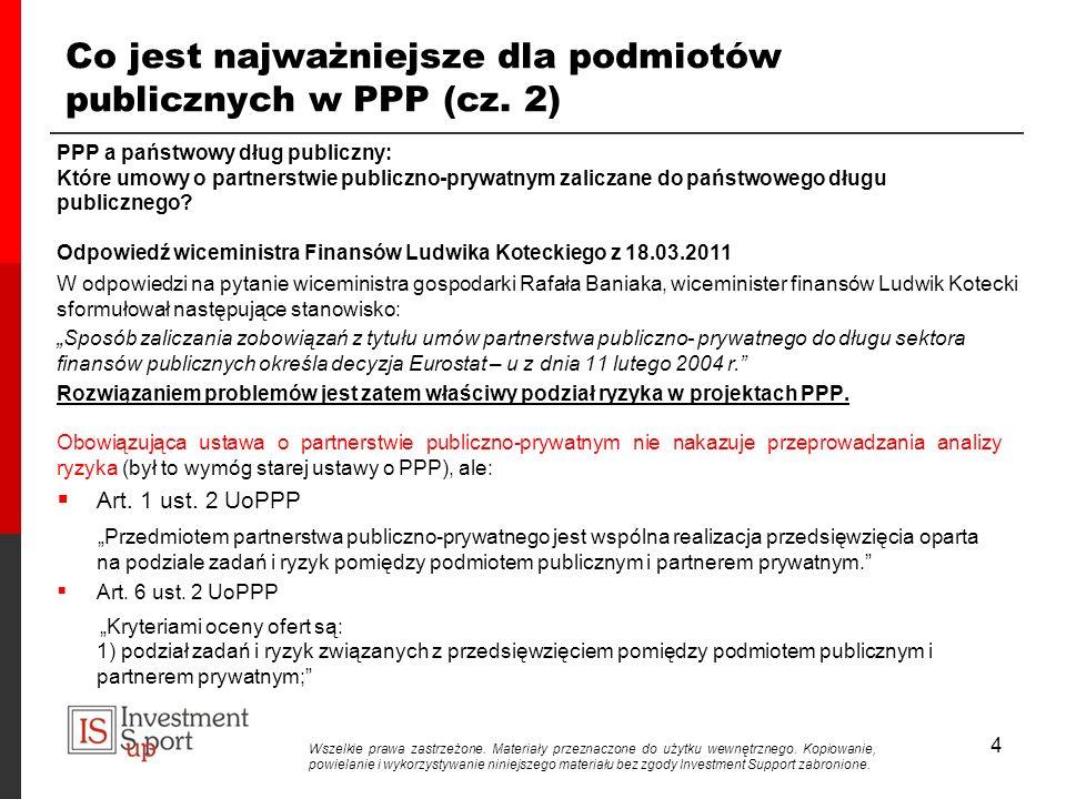 4 Co jest najważniejsze dla podmiotów publicznych w PPP (cz.