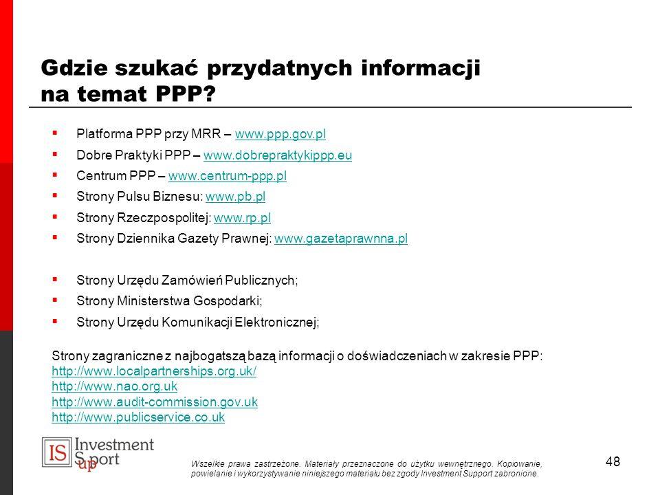 48 Gdzie szukać przydatnych informacji na temat PPP.
