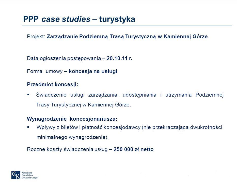 Projekt: Zarządzanie Podziemną Trasą Turystyczną w Kamiennej Górze Data ogłoszenia postępowania – 20.10.11 r.