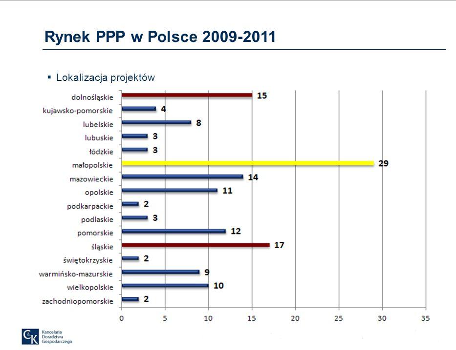 Rynek PPP w Polsce 2009-2011 Lokalizacja projektów