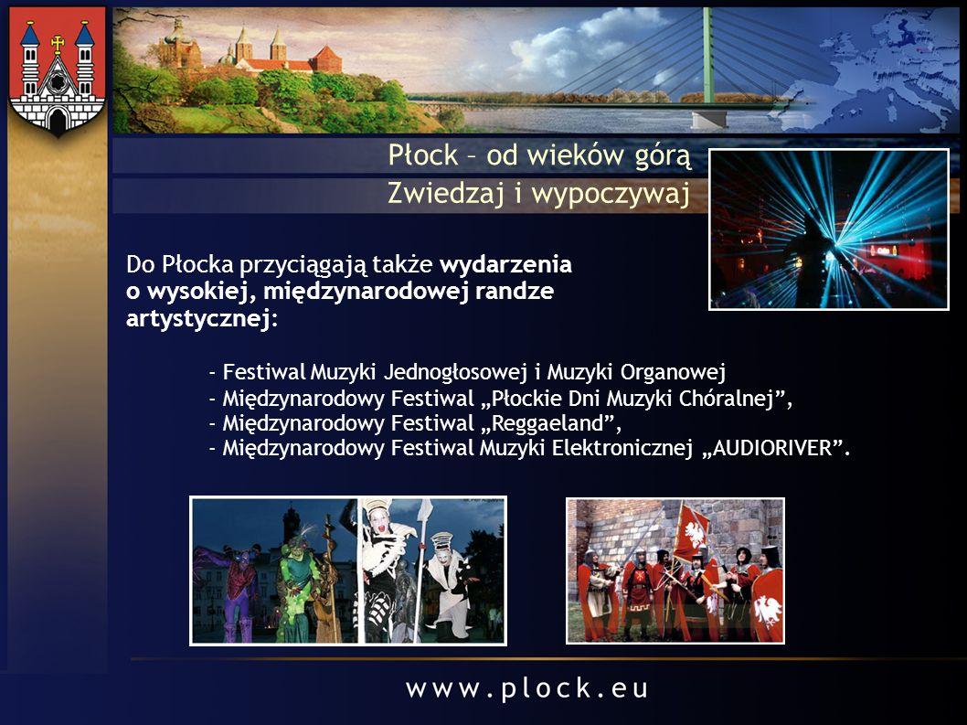 - Festiwal Muzyki Jednogłosowej i Muzyki Organowej - Międzynarodowy Festiwal Płockie Dni Muzyki Chóralnej, - Międzynarodowy Festiwal Reggaeland, - Mię