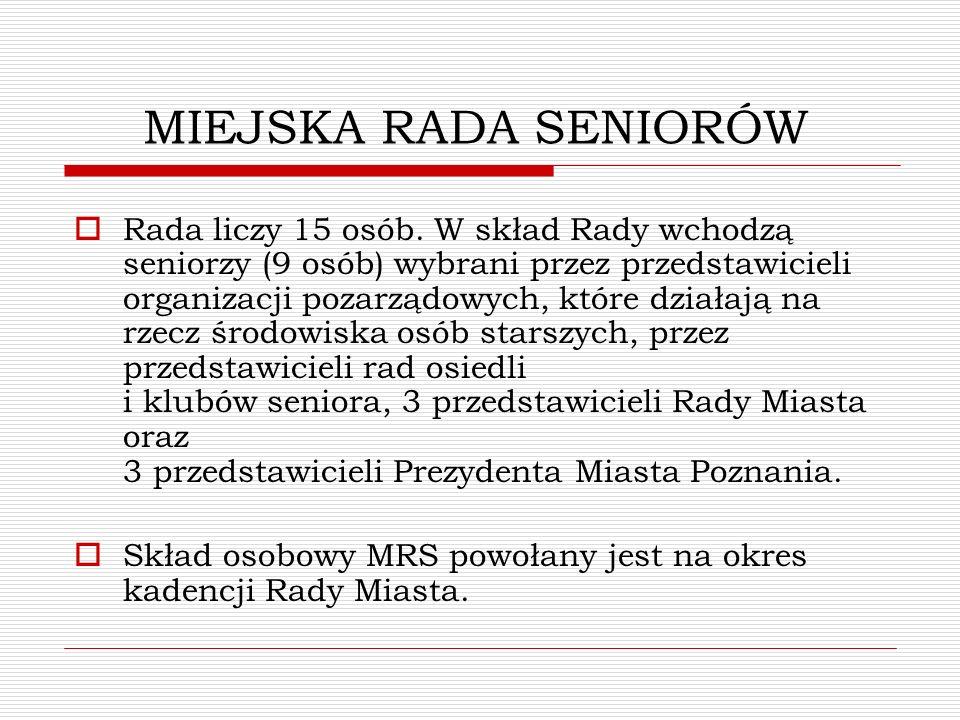MIEJSKA RADA SENIORÓW I KADENCJI Dyplom w imieniu władz Miasta Poznania odebrały p.