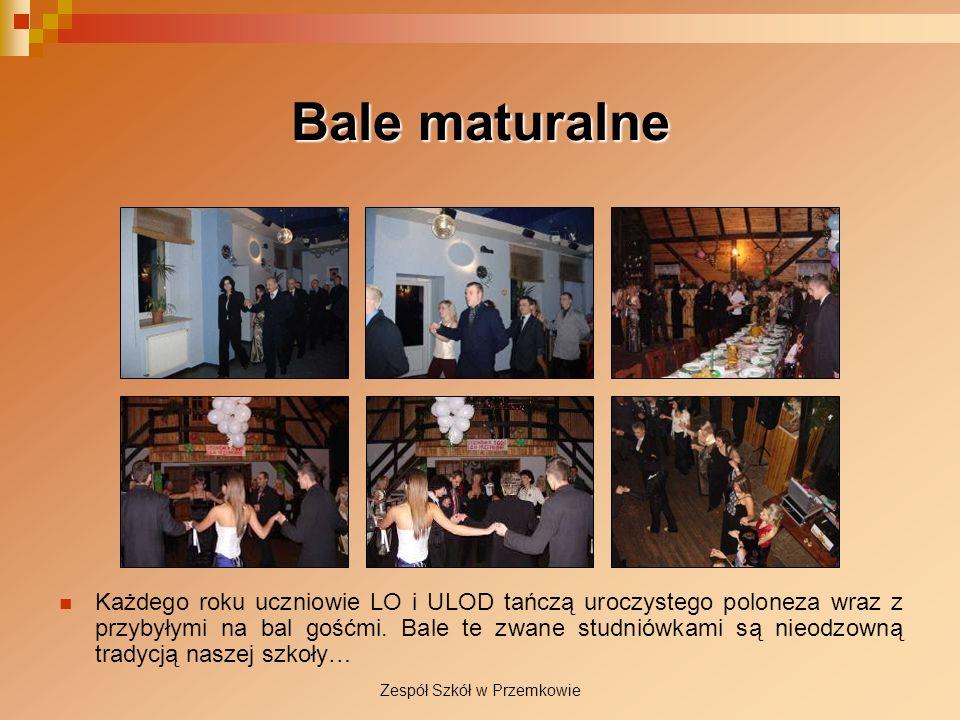 Bale maturalne Każdego roku uczniowie LO i ULOD tańczą uroczystego poloneza wraz z przybyłymi na bal gośćmi. Bale te zwane studniówkami są nieodzowną