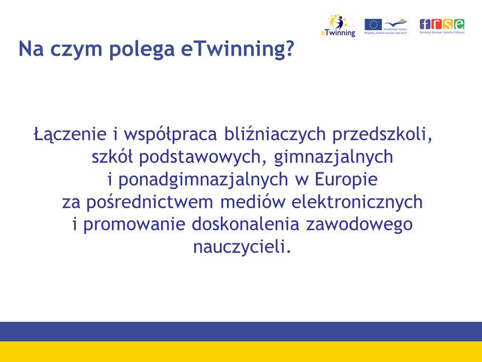 Na czym polega eTwinning? Łączenie i współpraca bliźniaczych przedszkoli, szkół podstawowych, gimnazjalnych i ponadgimnazjalnych w Europie za pośredni