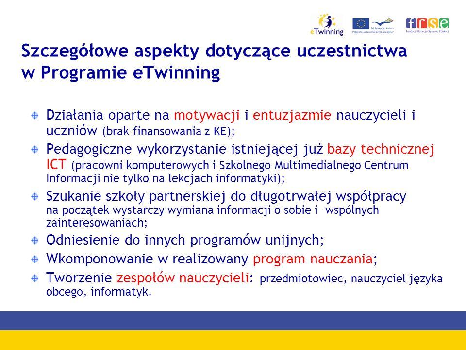 Przedmioty w ramach projektów eTwinning