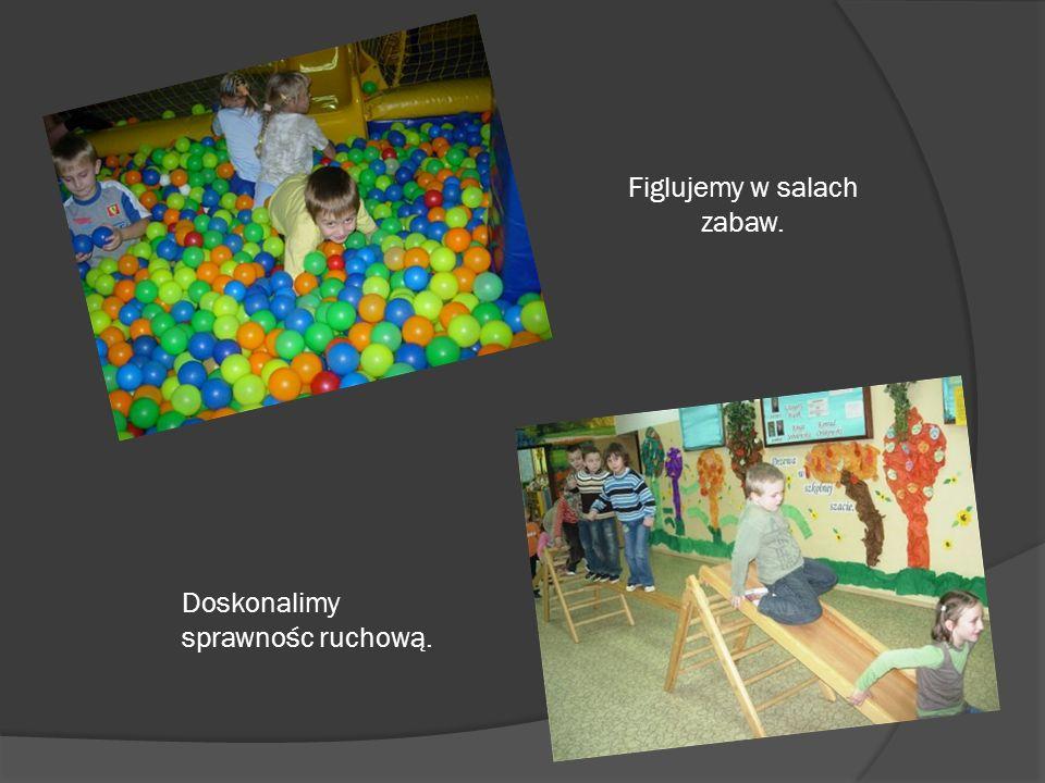 Figlujemy w salach zabaw. Doskonalimy sprawnośc ruchową.