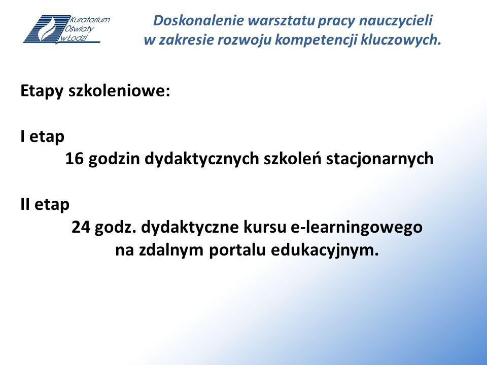 Doskonalenie warsztatu pracy nauczycieli w zakresie rozwoju kompetencji kluczowych.