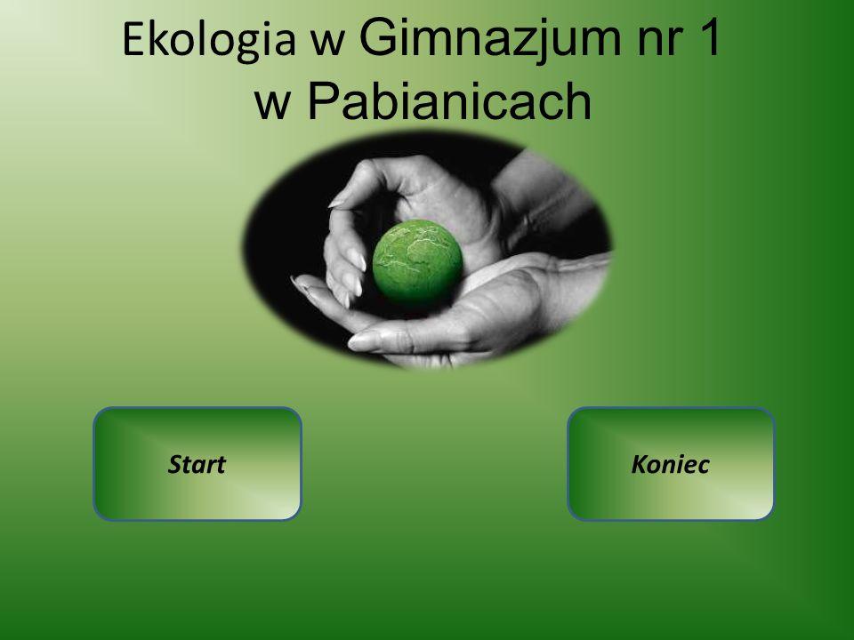 Ekologia w Gimnazjum nr 1 w Pabianicach StartKoniec