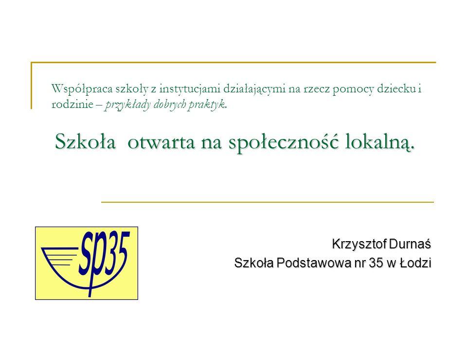 Efekty współpracy Poziom zadowolenia szkoły ze współpracy ze społecznością lokalną jest mierzony współczynnikiem - wybitych szyb w okresie jednego tygodnia.